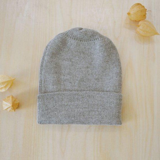 Alpaka Wollmütze Grau meliert von De Colores