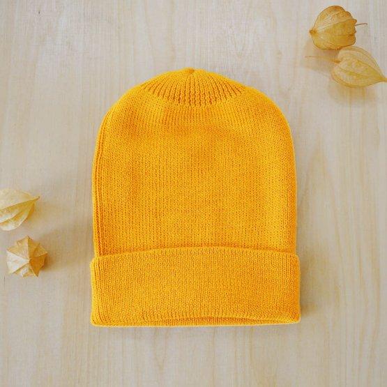 Alpaka Wollmütze Maisgelb von De Colores