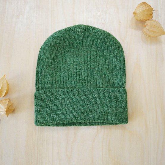 Alpaka Wollmütze Graugrün von De Colores