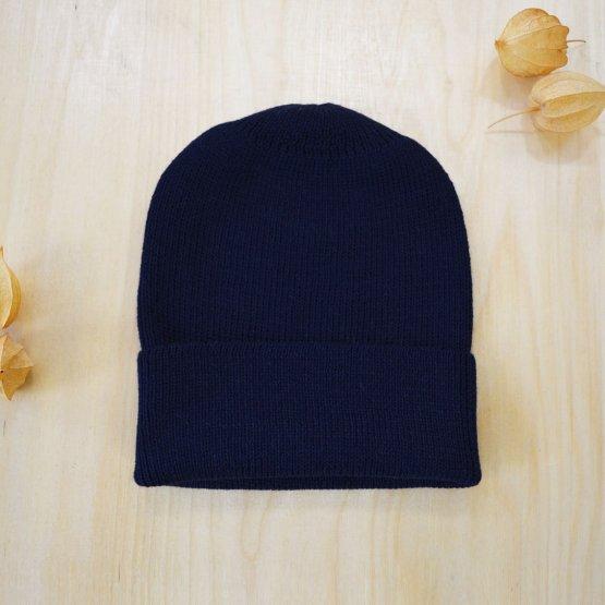 Alpaka Wollmütze Marineblau von De Colores