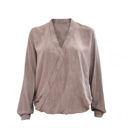 "Bluse ""Slammy"" washed Taupe 26116"