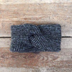 Woll-Stirnband aus grauer weicher Wolle