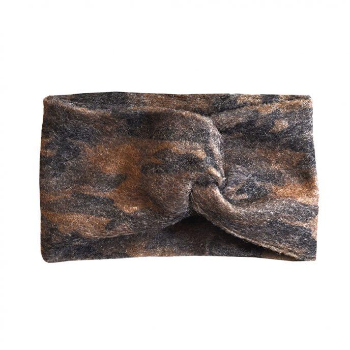 "Stirnband Camoflage ""Camo"" aus Wolle 99418"
