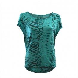 Viskose Shirt mit türkisem Zebra Print