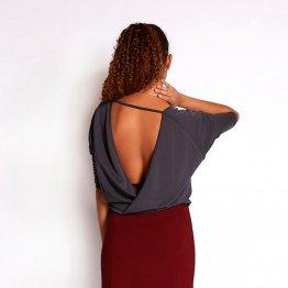 Modal Pullover XANI blaugrau