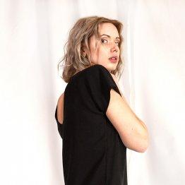 """Kleid aus Tencel """"Caro"""" in Schwarz  53018"""