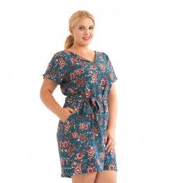 "Kleid aus Viskose ""Blaue Aster"" 56519"