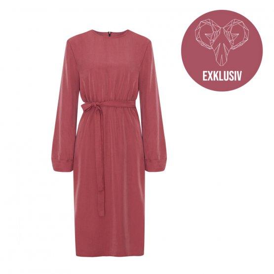 Kleid Gretha in Weinrot