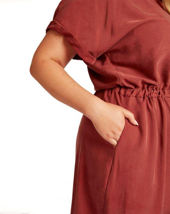 Kleid Vanka in rostrot