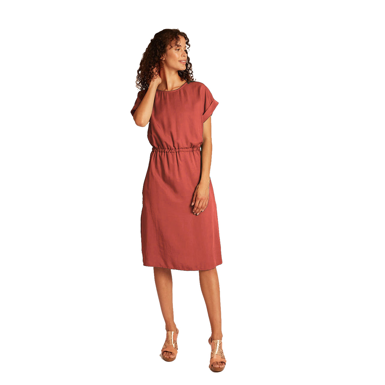 Lassiges Kleid Vanka In Rot Mit Gummizug