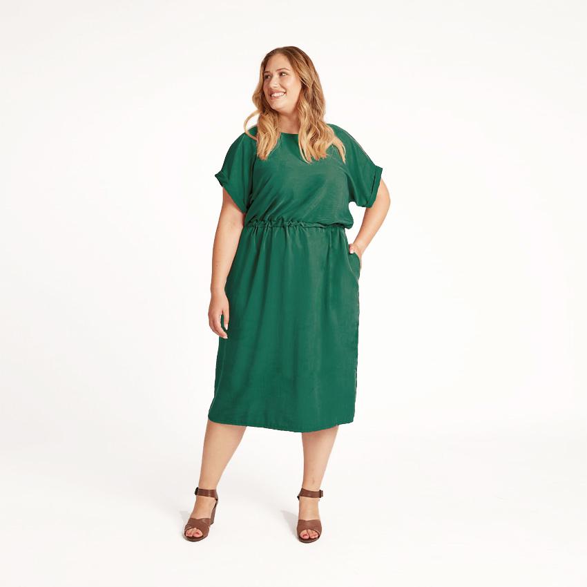 Lassige Kleid Vanka In Rot Mit Gummizug