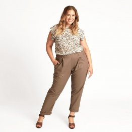 Leinenhose BOLLE in Taupe