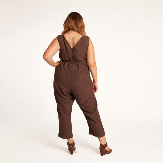 overall in taupe