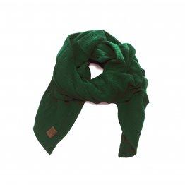 waldgrünes Musselintuch aus weicher Bio-Baumwolle