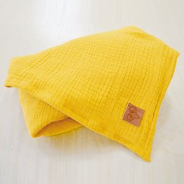 Musselintuch gelb