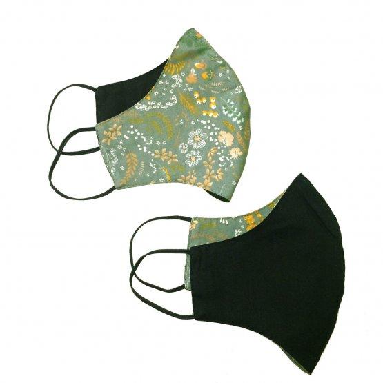 Grau grün schwarze Bio Maske