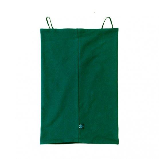 Maskenschal grün schwarz rückseite