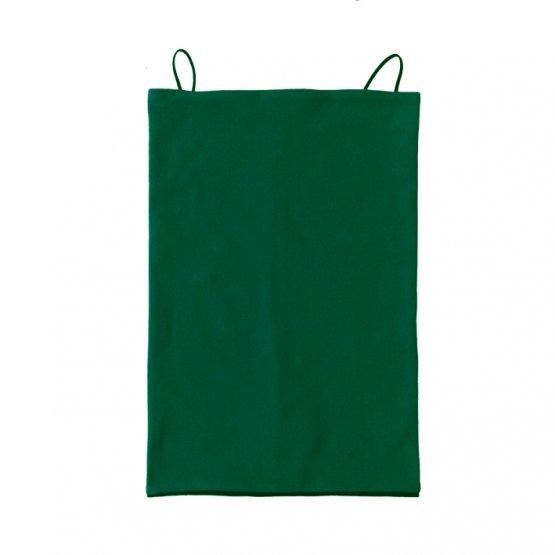 Maskenschal grün schwarz bio baumwolle