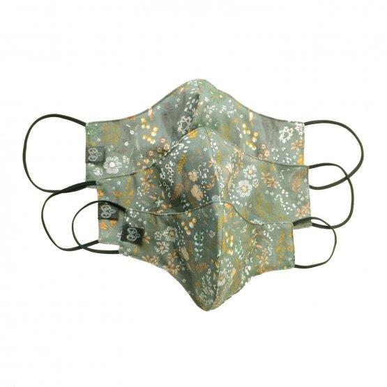 grüne Blütenmaske in drei Größen