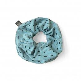 90221 hellblaues Scrunchie aus Bio-Baumwolle