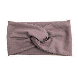 graues Stirnband mit Knoten vorn im Turbanlook aus Bio-Baumwolle
