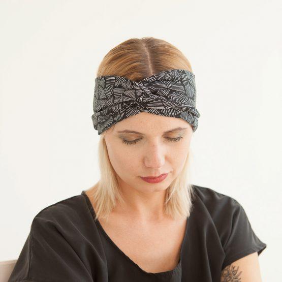 """Stirnband """"Tri"""" aus Baumwoll-Jersey 98318"""