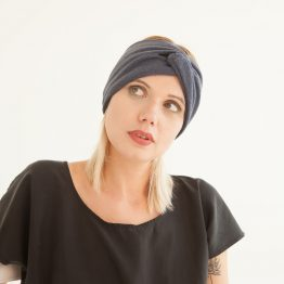 """jeansblaues Stirnband """"Blauer"""" aus Baumwollstrick 98517"""