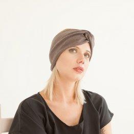 """Stirnband """"Taupe"""" aus Baumwolle 98518"""