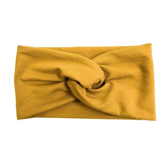 """senfgelbes Stirnband """"Senna"""" aus Baumwollsweat 98618"""