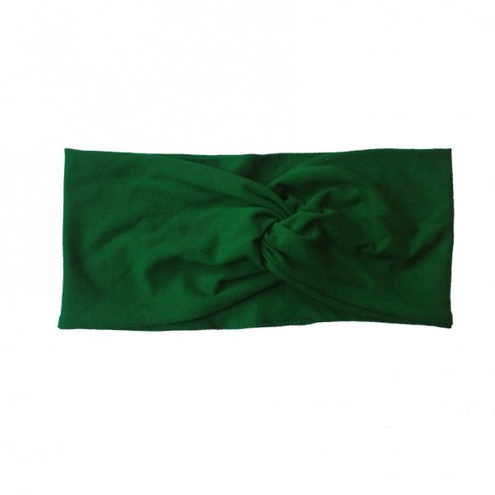 Waldgrünes Stirnband aus Modal