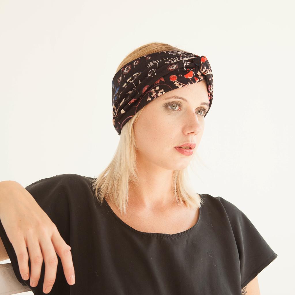 "geblümtes Stirnband ""Pusteblume"" aus Jersey 98818"