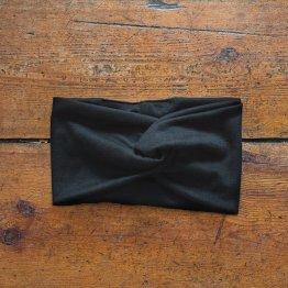 """schwarzes Stirnband """"Blacky"""" aus Baumwollsweat 99017"""