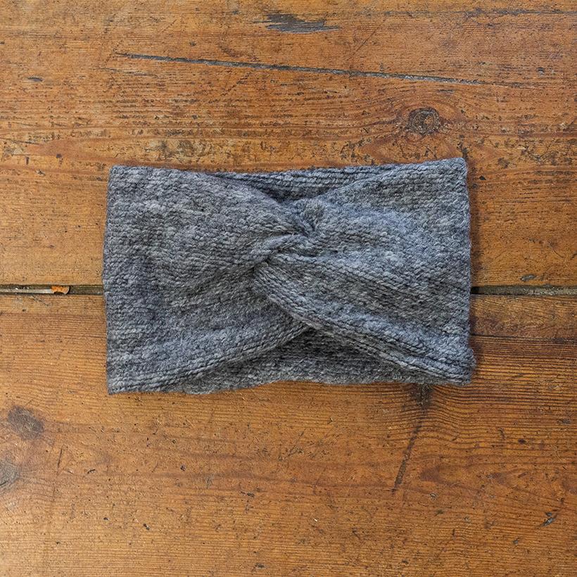 """Graues Stirnband """"Gilda"""" aus Wolle 99219"""