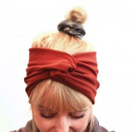 """rostrotes Stirnband """"Rusty"""" aus Baumwollsweat 99417"""