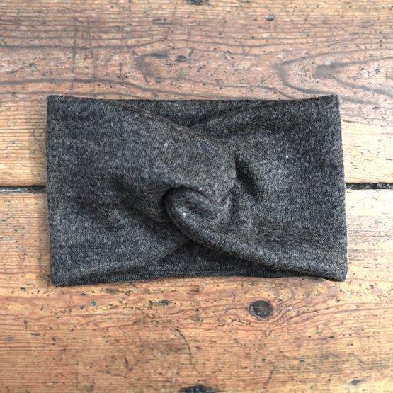 braun meliertes Stirnband aus Wolle