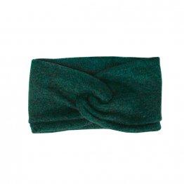 Stirnband aus Wolle in Petrol Blau, Turbanlook