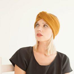 """senfgelbes Stirnband """"Mustarda"""" aus Wolle 99618"""