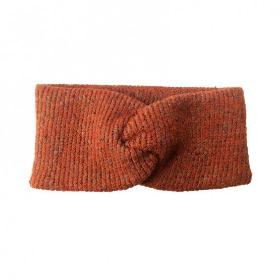 stirnband aus wolle in rostbraun