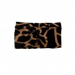 Stirnband aus Jersey mit Schwarz braunem Muster
