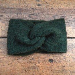 dunkelgrünes Wollstirnband