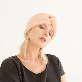 "Stirnband aus Wolle ""Pinky"" 99718"