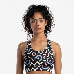 Sportliches Bustier Top ARYA mit Pop Art Muster aus recyceltem Polester von A-dam Underwear