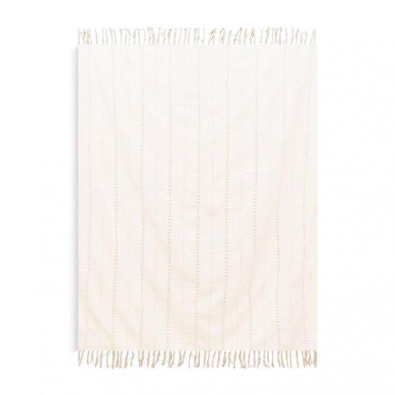 Beige Decke Baumwolle