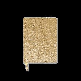 Gold glitzernder Kalender von Studio Stationary zum selbst eintragen.