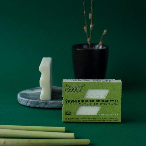 festes Spülmttel mit Lemongras Duft von GroovyGoods - nachhaltig und Zero Waste abwaschen