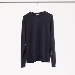 """Pullover """"Marsh"""" aus Hanf - weiches Sweatshirt in Dunkelblau für Frauen und Männer - Detailansicht"""