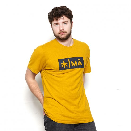 Shirt REGGIE aus Hanf in Gelb von MA Hempwear