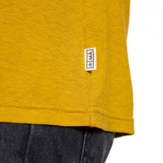Shirt REGGIE aus Hanf in Gelb von MA Hempwear - Detail Label in der Seitennaht