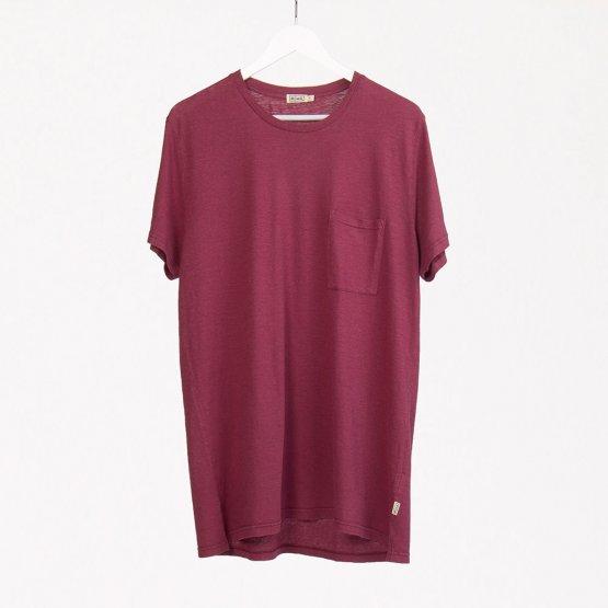 Shirt HOVITO aus Hanf mit Brusttasche in Beere von MA Hempwear