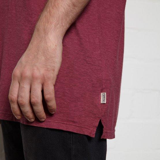 Shirt HOVITO aus Hanf mit Brusttasche in Beere von MA Hempwear - Detail Label